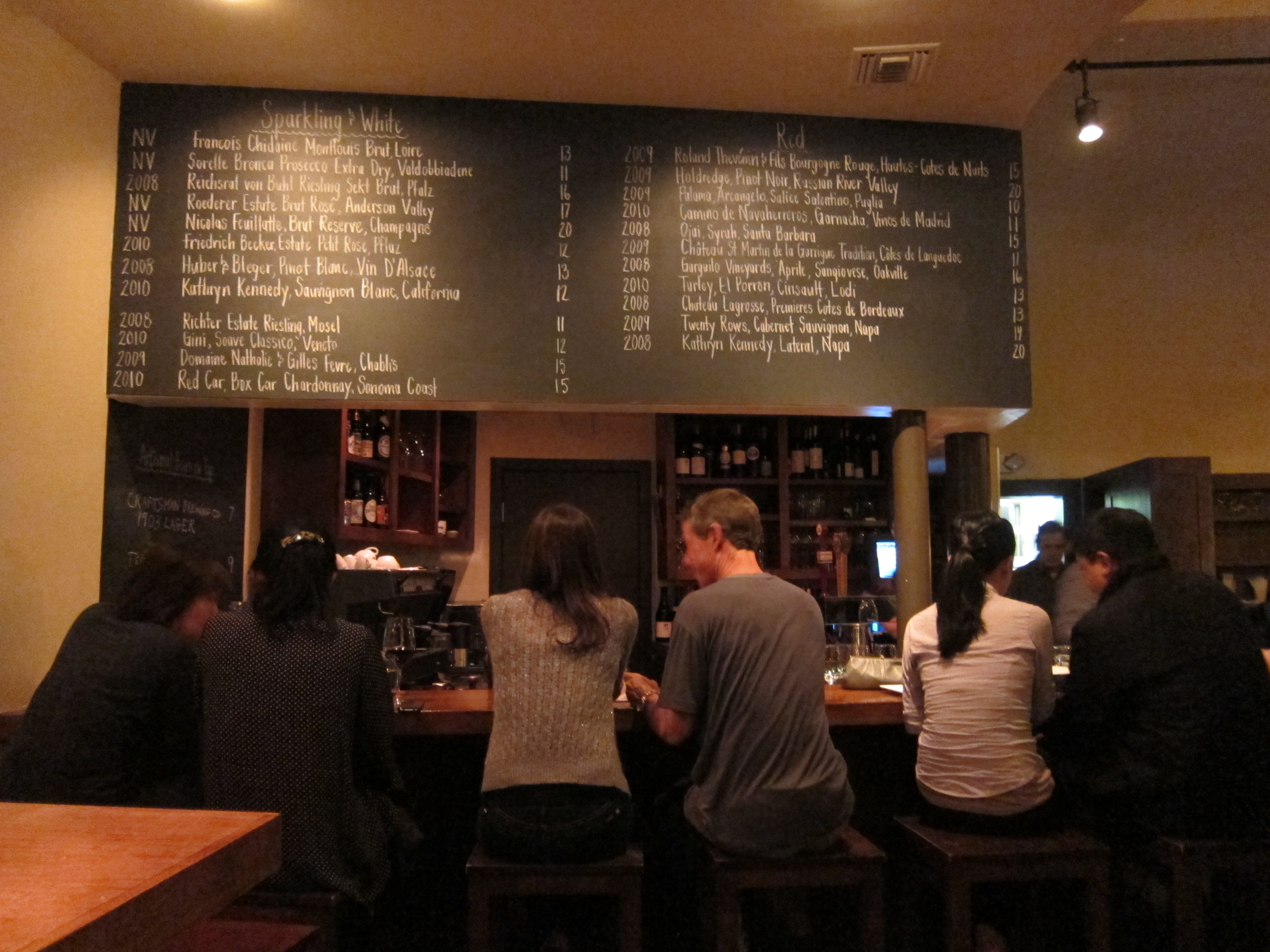 Rustic Canyon Wine Bar And Seasonal Kitchen LOS ANGELES